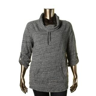 Calvin Klein Performance Womens Plus Seamed Heathered Sweatshirt