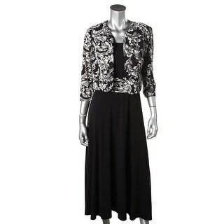 Jessica Howard Womens Sequined Sleeveless Dress With Jacket - 14