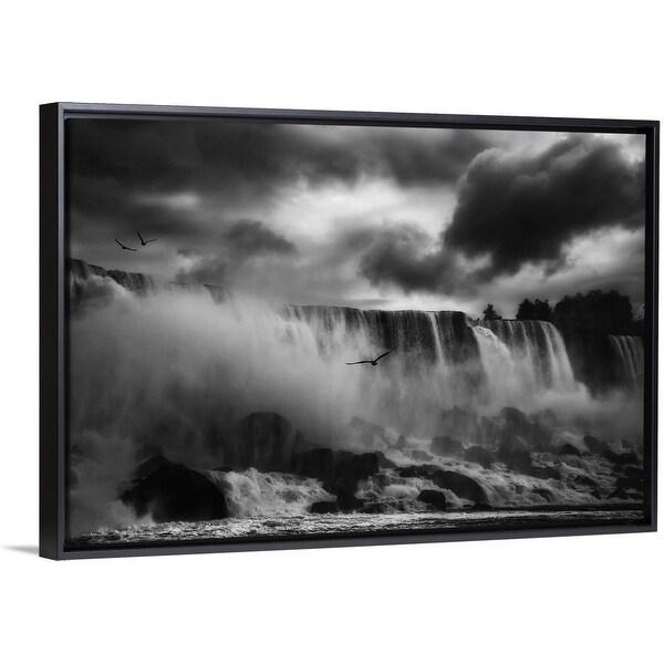 """""""Powerful Splendor"""" Black Float Frame Canvas Art"""