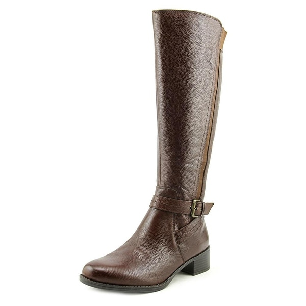 Naturalizer Wynnie Women Round Toe Leather Brown Knee High Boot