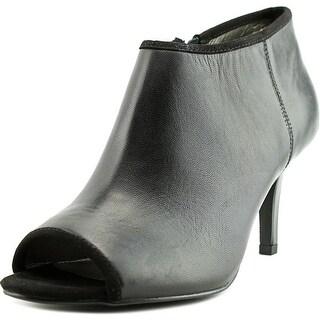 Bandolino Maiba Women Peep-Toe Leather Black Heels