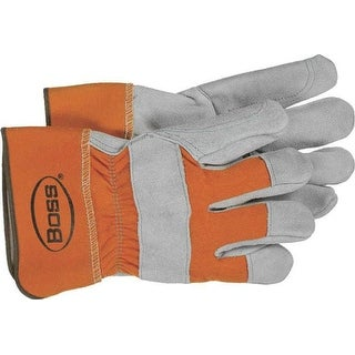 Boss 2393 Double Leather Palm Gloves, Large