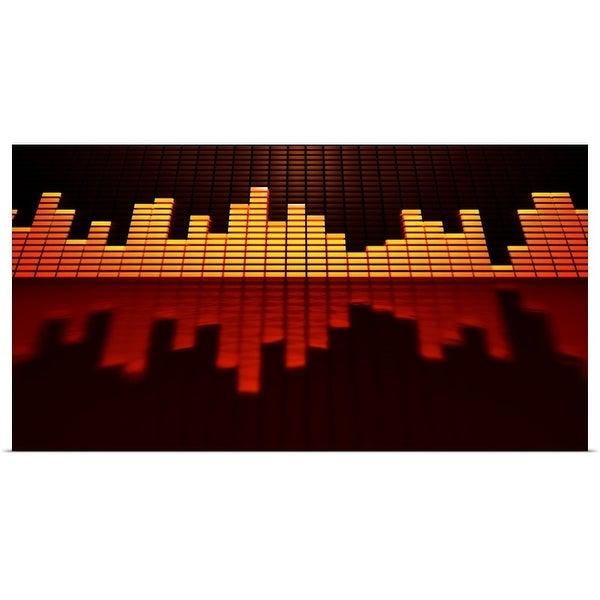 Shop Graphic equalizer display set against a black background