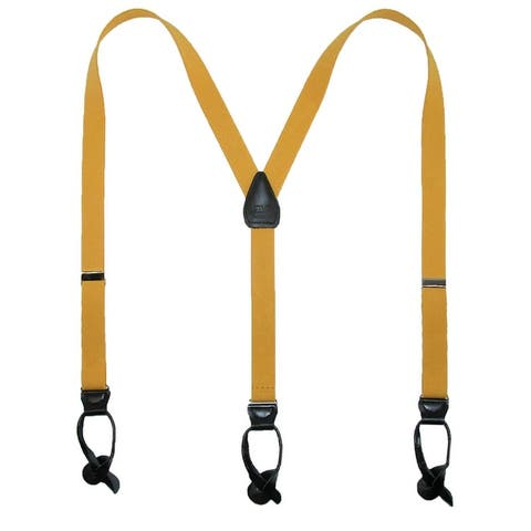 CTM® Elastic 1 Inch Wide Fashion Color Button-End Suspenders - one size