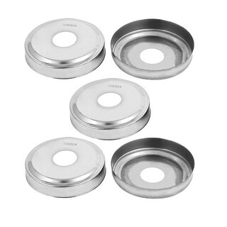 2.68-inch Outer Dia 0.75-inch Post Ladder Hand Rail Plate Covers 5pcs