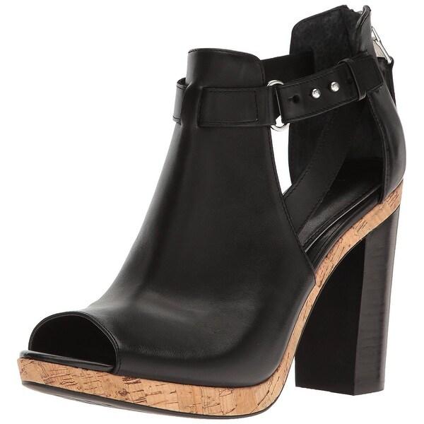 LAUREN by Ralph Lauren Womens Fiana Leather Peep Toe Casual Ankle Strap Sandals