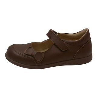 L'Amour Little Girls Brown Leather Double Bow Mary Jane Shoes 5-10 Toddler