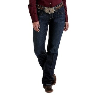 Cinch Western Denim Jeans Womens Ada Relaxed Bootcut Dark