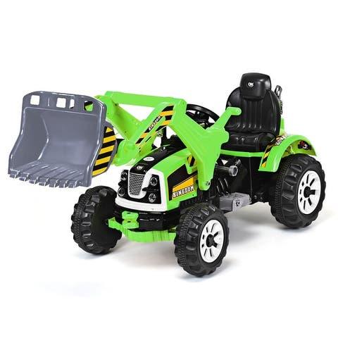 Kids Ride On Excavator Truck 12V Battery Powered Front Loader Digger