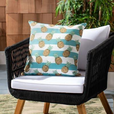 """SAFAVIEH 18"""" Indoor/Outdoor Pari Pineapple Pillow"""