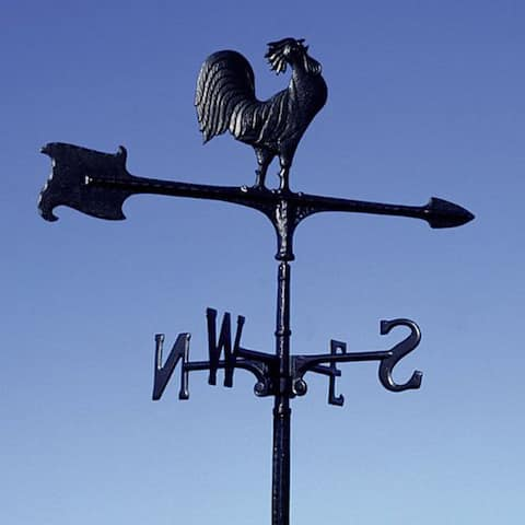 """Whitehall 30"""" Rooster Accent Weathervane - Black"""