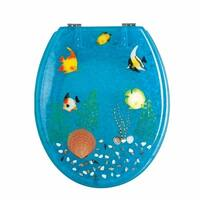 Polyresin Toilet Seat Ocean Floor Chrome | Renovator's Supply