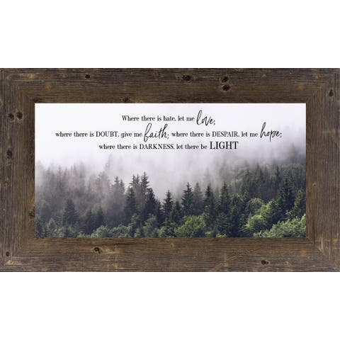 Where There Is Hate Let Me Love, Faith, Hope and Light Religious Decor Art
