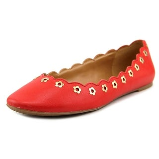 Nine West Mintchip Women Round Toe Leather Red Flats