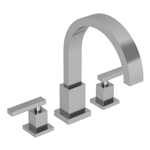 Newport Brass 3-2046 Double Handle Deck Mounted Roman Tub Filler with Tub Spout and Metal Lever Handles from the Secant