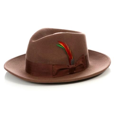 Ferrecci Men's Crushable Fedora Hat