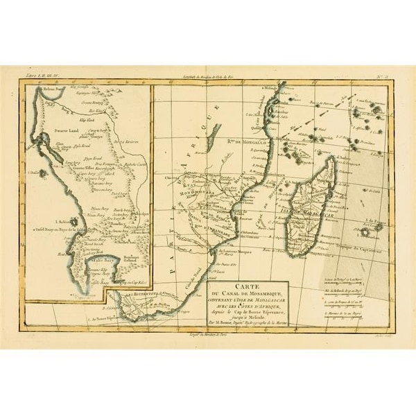 Shop Map Of Southern Africa Madagascar Circa 1760 From Atlas D