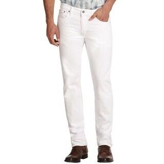 Polo Ralph Lauren Varick Slim Fit Straight Leg Off White Jeans 38 x 32