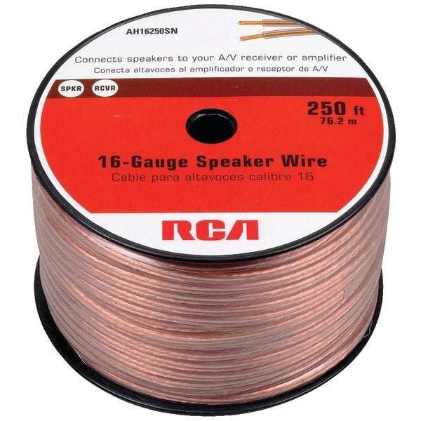 Rca Ah16250Sr 16-Gauge Speaker Wire (250Ft)