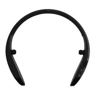 Sports bluetooth 4.0 Wireless Stereo Ring Collar Neckband Type Earphone Black