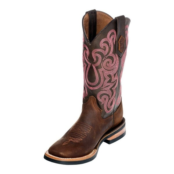Ferrini Western Boots Womens Maverick Square Toe Chocolate