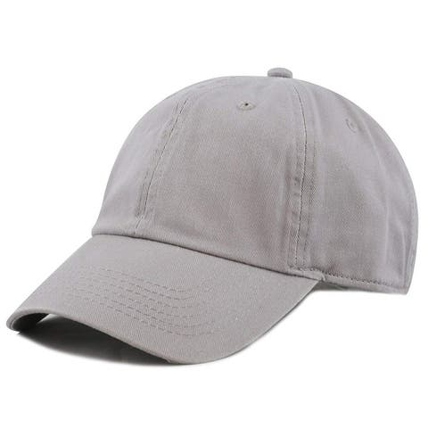 Newhattan Plain 100% Cotton Hat Men Women Adjustable Baseball Cap