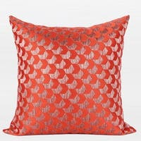 """G Home Collection Luxury Tangerine Arrows Pattern Jacquard Pillow 20""""X20"""""""