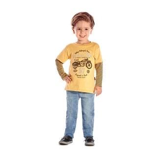 Toddler Boy Long Sleeve T-Shirt Graphic Tee Little Boys Pulla Bulla 1-3 Years (Option: Cotton)