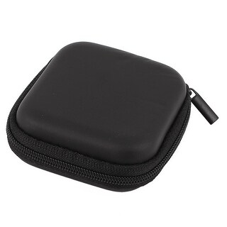 Earphone Cellphone Headphone Headset Earbuds Carrying Case Pouch Storage Black