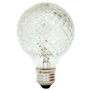 GE 16774 Crystal Halogen Globe Light Bulb, 40 Watts, 120 Volt