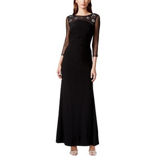 Jessica Howard Womens Evening Dress 3/4 Sleeves Full-Length