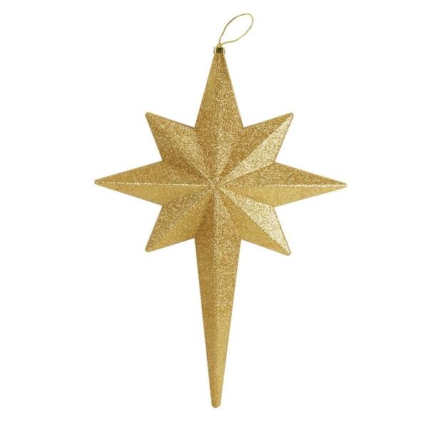 """20"""" Vegas Gold Glittered Bethlehem Star Shatterproof Christmas Ornament"""