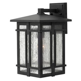 """Hinkley Lighting 1964 1 Light 9"""" Wide Lantern Dark Sky Wall Sconce with Clear Seedy Glass Shade from the Tucker Collection (2 options available)"""