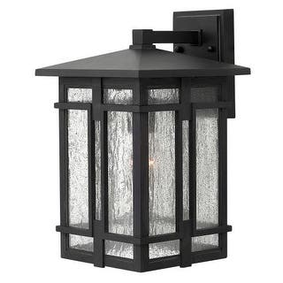 Hinkley lighting outdoor lighting for less overstock hinkley lighting 1964 1 light 9 wide lantern dark sky wall sconce with clear seedy aloadofball Image collections