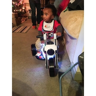 3 Wheel LED Mini Motorcycle , Ride on Toy for Kids by Rockin' Rollers – Battery Powered Toys for Boys & Girls