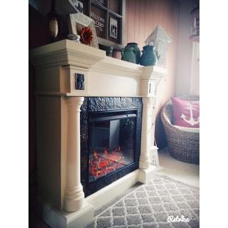 Harper Blvd Blanchard Ivory Electric Fireplace