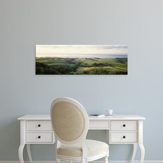 Easy Art Prints Panoramic Images's 'Aerial view of a rolling landscape, Santa Barbara, California' Canvas Art
