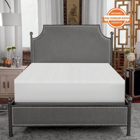 SensorPEDIC 1.5-Inch Coolest Comfort Memory Foam Mattress Topper - White