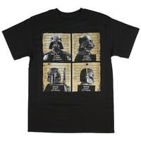Star Wars Men's Darth Vader, Boba Fett Mug Shots T-Shirt