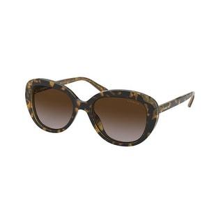 Link to Coach HC8289 558313 53 Tortoise Glitter Signature C Woman Round Sunglasses Similar Items in Women's Sunglasses