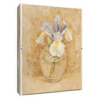 "PTM Images 9-154586  PTM Canvas Collection 10"" x 8"" - ""Iris Blossom in Glass"" Giclee Irises Art Print on Canvas"