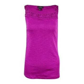 LRL Lauren Jeans Co. Women's Macrame Cotton Tank Top|https://ak1.ostkcdn.com/images/products/is/images/direct/54215593a49a81e0c675e70732004ff14b80aaf6/LRL-Lauren-Jeans-Co.-Women%27s-Macrame-Cotton-Tank-Top.jpg?_ostk_perf_=percv&impolicy=medium