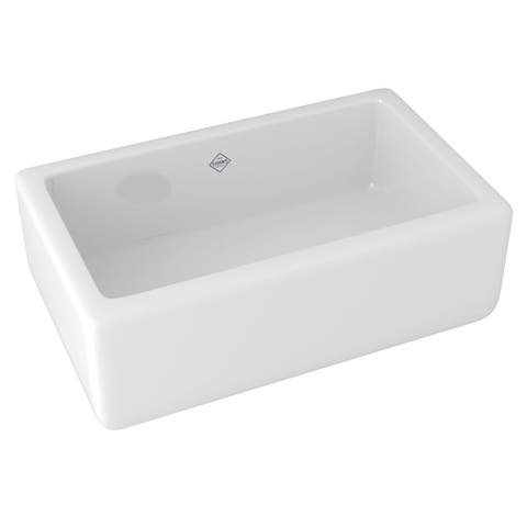 "Rohl RC3018 Shaws Lancaster 30"" Farmhouse Single Basin Fireclay"