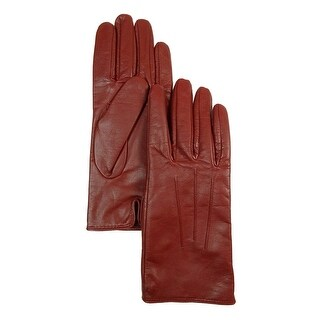 Isotoner Women's Signature Smartouch Pintucked Leather Dress Gloves