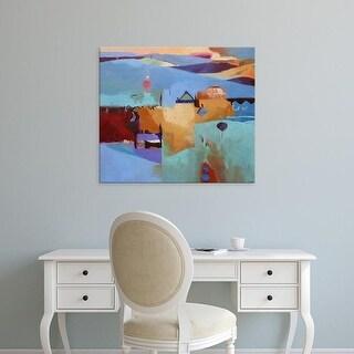 Easy Art Prints Gerry Dudgeon's 'Blue Atlas' Premium Canvas Art