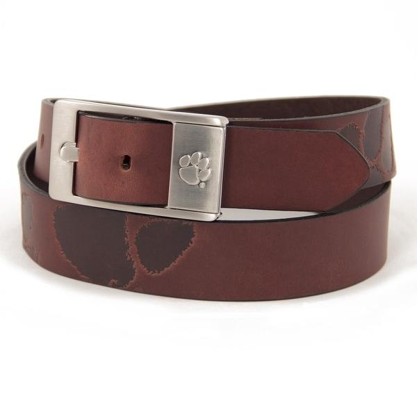 Clemson University Brandish Leather Belt