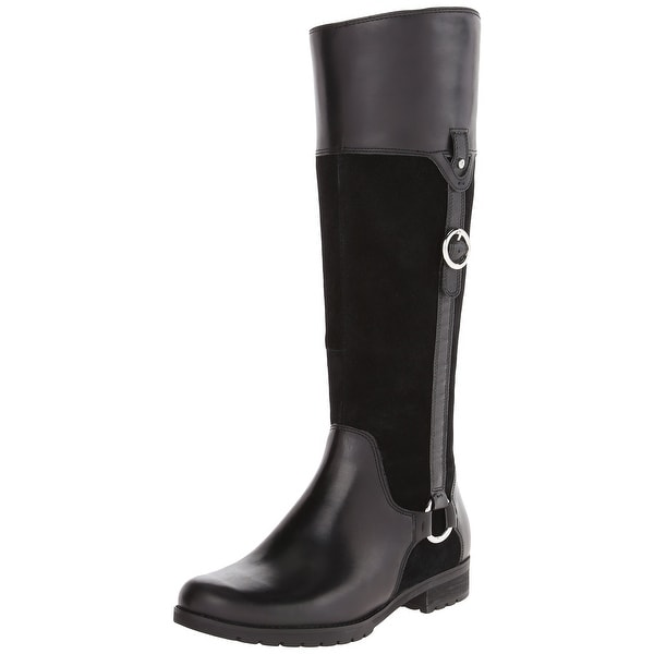 Rockport NEW Black Tristina Shoes 5.5M Knee-High Leather Boots