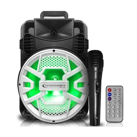 Technical Pro 2000 Watts, Rechargeable 20 Inch Bluetooth LED Speaker with USB/SD Inputs & FM Radio