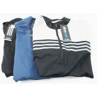 Adidas 3 Pack 1/4 Zip Pullover Size Medium Logo Assorted Overuns Limited Edition