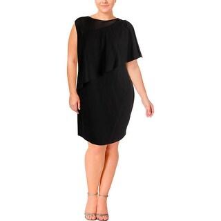 Lauren Ralph Lauren Womens Plus Cocktail Dress Sleeveless Knee-Length